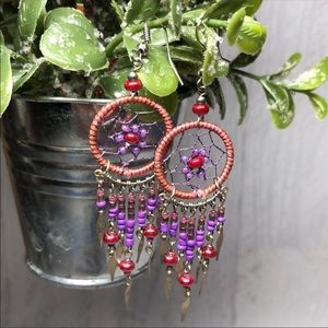 Dreamcatcher 90's Dangle Earrings 8